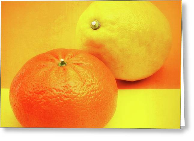 Orange And Lemon Greeting Card by Wim Lanclus