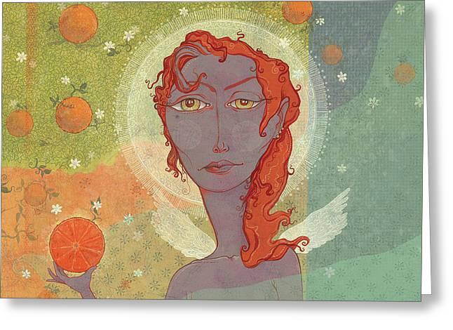 Orange Angel 4 Greeting Card by Dennis Wunsch