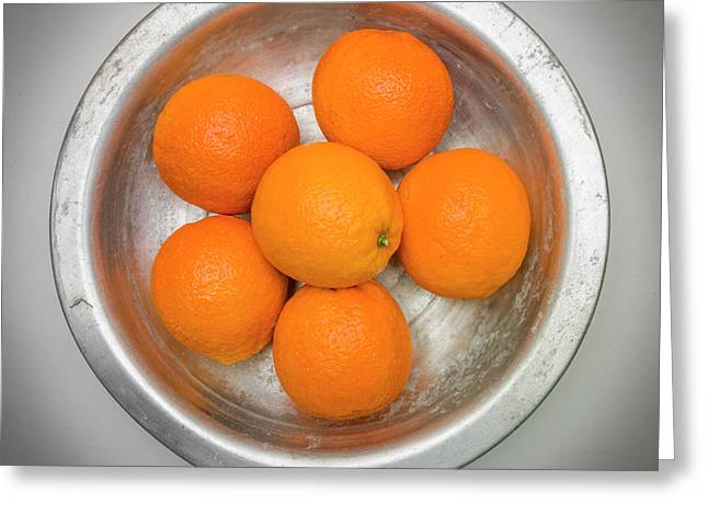 Orange Greeting Card by Bernard Jaubert