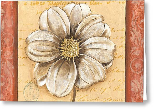 Handwriting Greeting Cards - Orange Bohemian Dahlia 1 Greeting Card by Debbie DeWitt