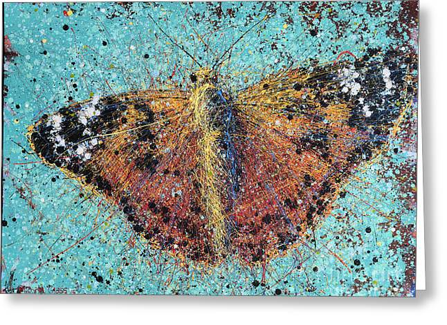 Orange Butterfly Greeting Card by Michael Glass