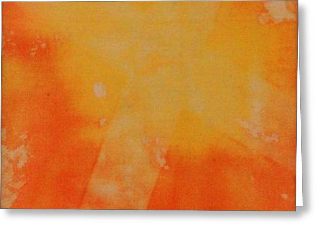 Orange Cross Greeting Card by Brandi Webster