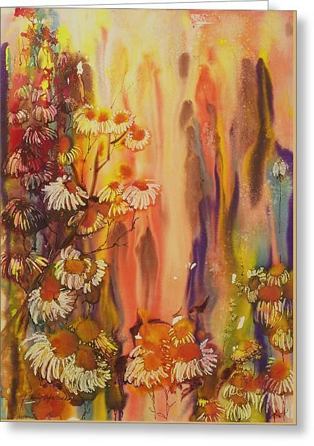 Ghostly Greeting Cards - Orange Crush Greeting Card by Shirley Sykes Bracken