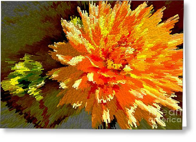 Youthful Greeting Cards - Orange Dahlia Greeting Card by Kelly Holm