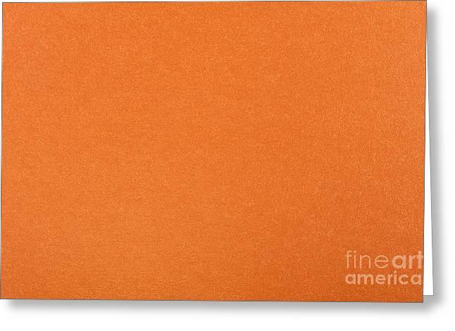 Orange Flat Cardboard Texture Greeting Card by Arletta Cwalina