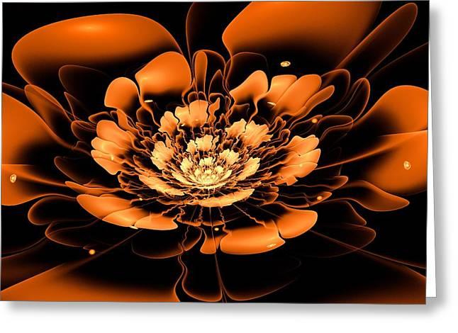 Orange Flower  Greeting Card by Anastasiya Malakhova