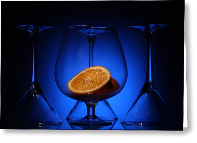 Artist Photographs Greeting Cards - Orange in Blue Light  Greeting Card by Dmitry Soloviev