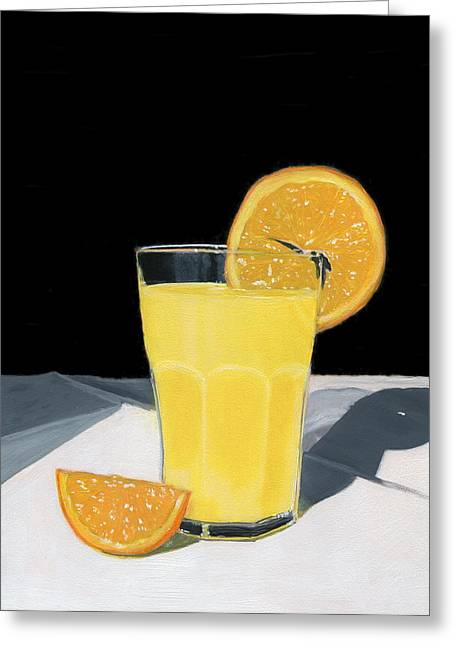 Healthy Greeting Cards - Orange Juice Greeting Card by Karyn Robinson