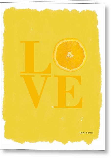 Orange Greeting Card by Mark Rogan