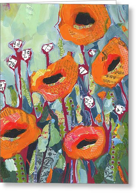 Orange Poppies Greeting Card by Shelli Walters