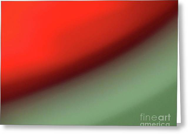 Lines Greeting Cards - Orange Red Green Greeting Card by CML Brown