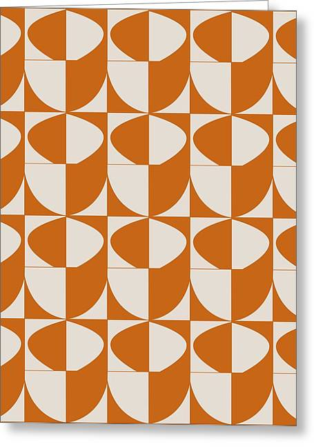 Stack Drawings Greeting Cards - Orange Stacked Cups  Greeting Card by Sandi Hauanio