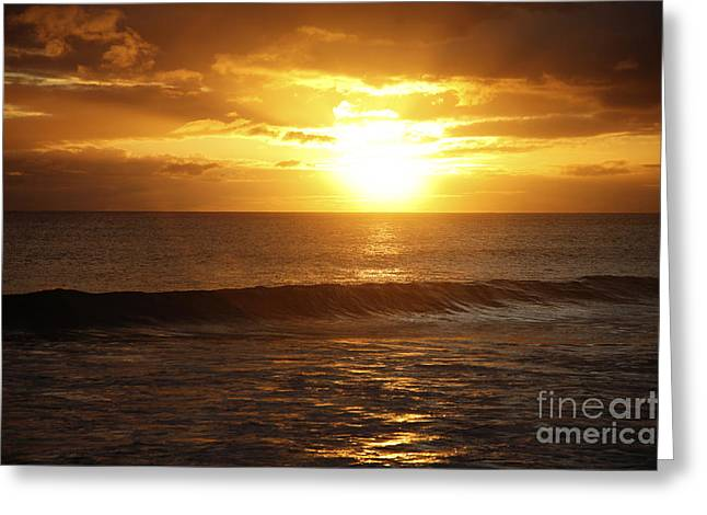 Amazing Sunset Greeting Cards - Orange Sunset Greeting Card by Brandon Tabiolo - Printscapes