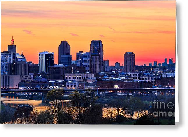 Mound Greeting Cards - Sunset Skylines Greeting Card by Ernesto Ruiz