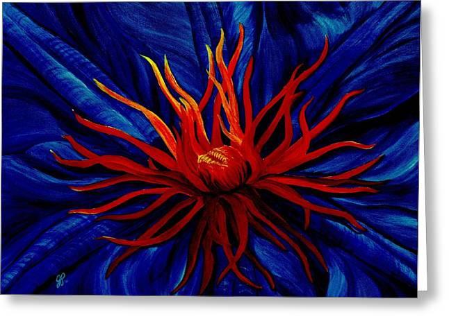 Orange Tango Greeting Card by Julie Pflanzer
