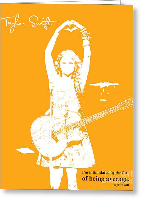 Guitar Player Mixed Media Greeting Cards - Orange Taylor Greeting Card by Pablo Franchi