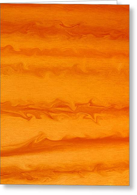 Goldilocks Greeting Cards - Orange Waves Greeting Card by James Mikkelsen