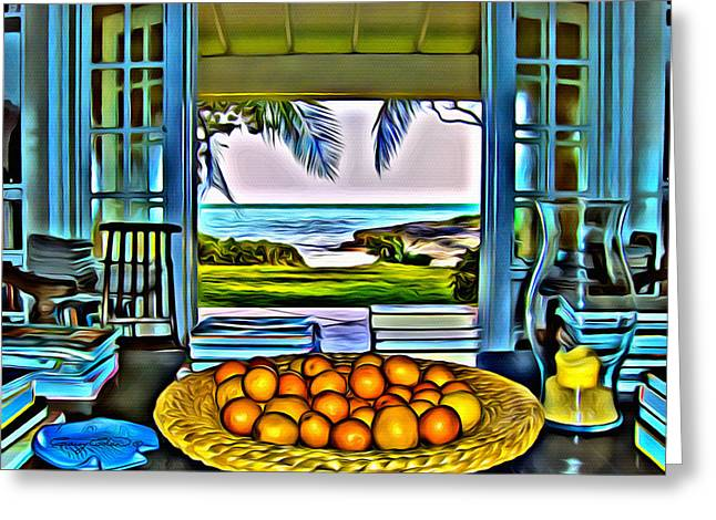 Fruit Tree Art Greeting Cards - Oranges Greeting Card by Anthony C Chen
