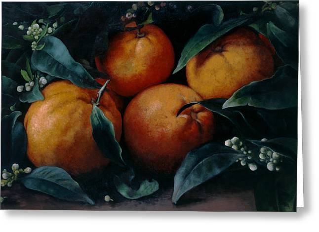 Vitamin C Greeting Cards - Oranges Greeting Card by Kira Weber