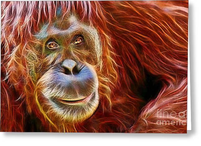 Orangutan Greeting Cards - Orangutan Collection Greeting Card by Marvin Blaine