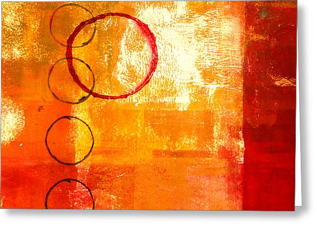 Orbit Abstract Greeting Card by Nancy Merkle