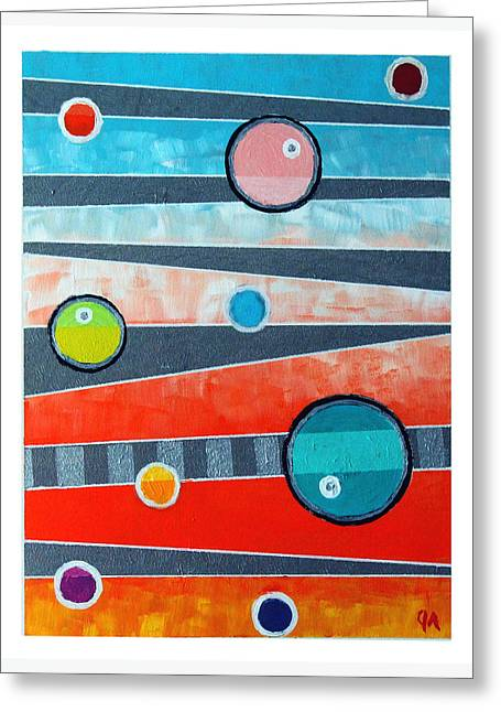 Orbs On Planes #2 Greeting Card by Jeremy Aiyadurai