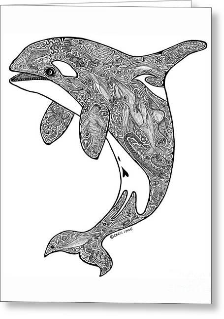 Seen Greeting Cards - Orca Greeting Card by Carol Lynne