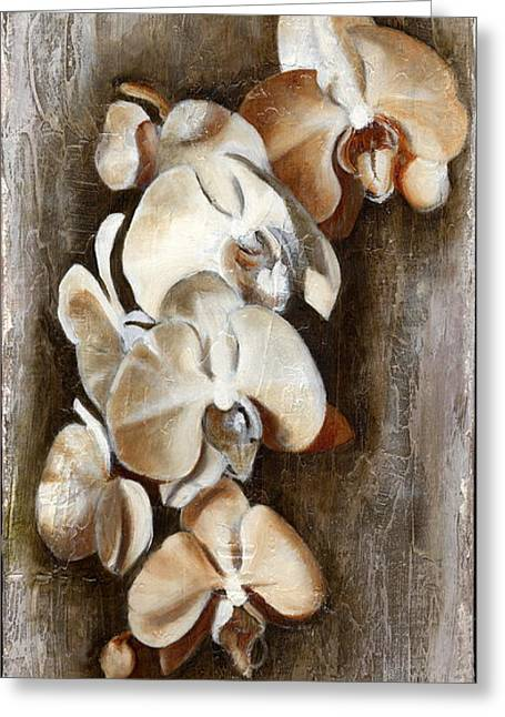 Orchid Ladder Greeting Card by Daniela Easter