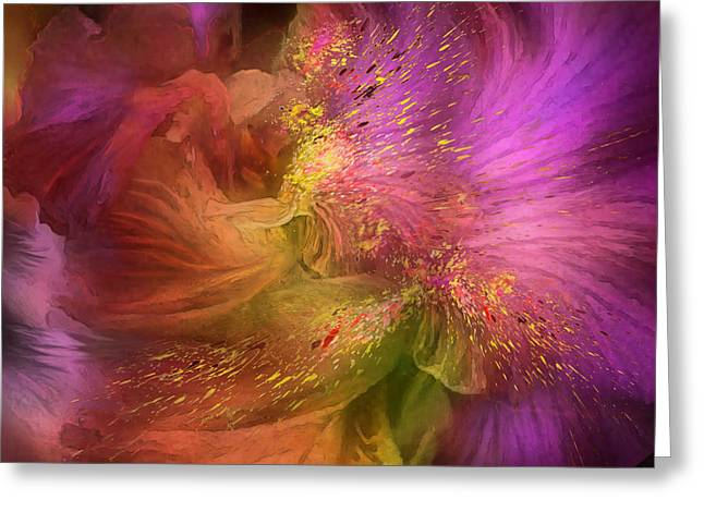 Orchids Art Print Greeting Cards - Orchid Moods 2 Greeting Card by Carol Cavalaris