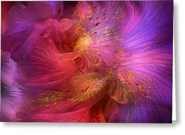 Orchid Art Painting Greeting Cards - Orchid Moods Greeting Card by Carol Cavalaris