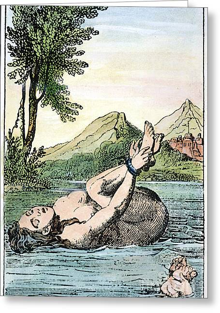 Discrimination Greeting Cards - Ordeal By Water Greeting Card by Granger