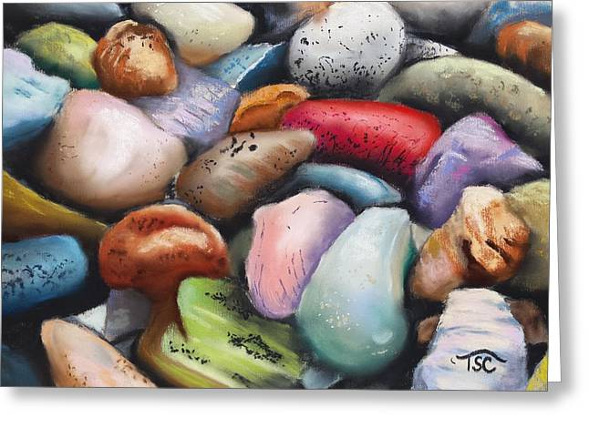 Treasures Pastels Greeting Cards - Ordinary Treasures Greeting Card by Tammy Crawford