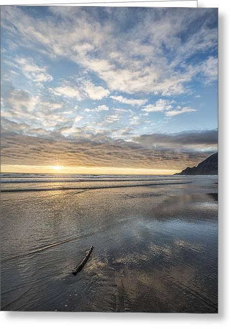 Oregon Beach Greeting Card by Jon Glaser