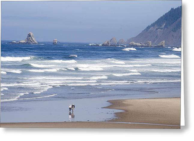 Oregon coast Greeting Card by Elvira Butler