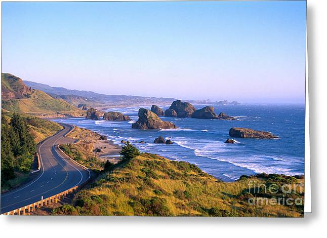 Oregon Pistol River Greeting Cards - Oregon Coast Greeting Card by Greg Vaughn - Printscapes