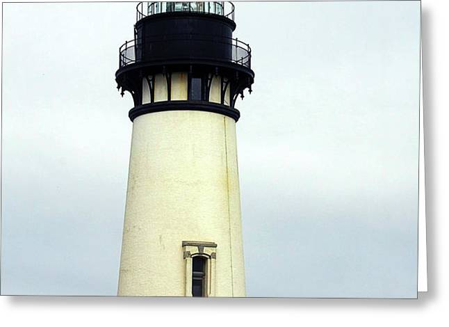Oregon Coast Lighthouses - Yaquina Head Lighthouse Greeting Card by Christine Till