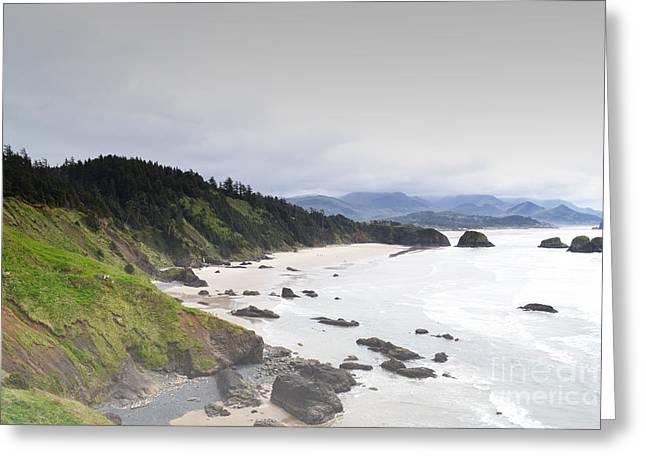 Haystack Framed Prints Greeting Cards - Oregon Coastal Mountains Greeting Card by Andrea Hazel Ihlefeld