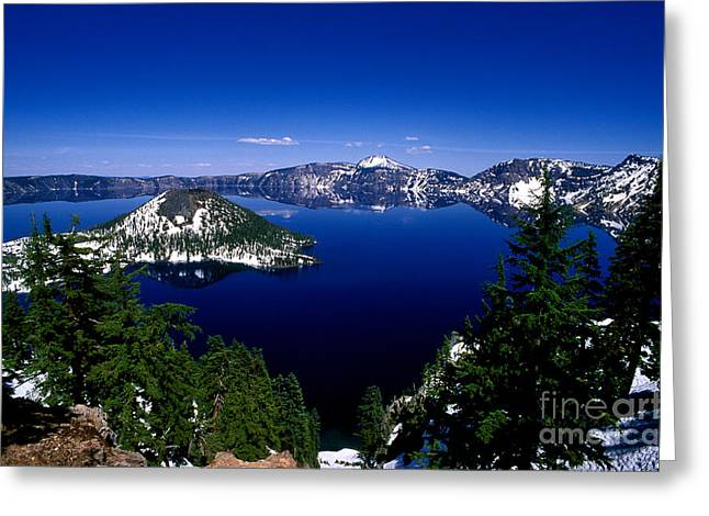 Craters Greeting Cards - Oregon - Crater Lake 2 Greeting Card by Terry Elniski