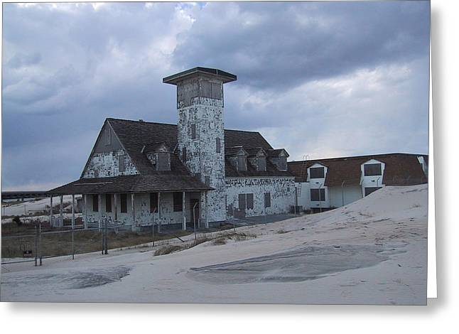 1874 Greeting Cards - NC Pea Island Oregon Inlet Life Saving Station Greeting Card by Cracked Lens Studio
