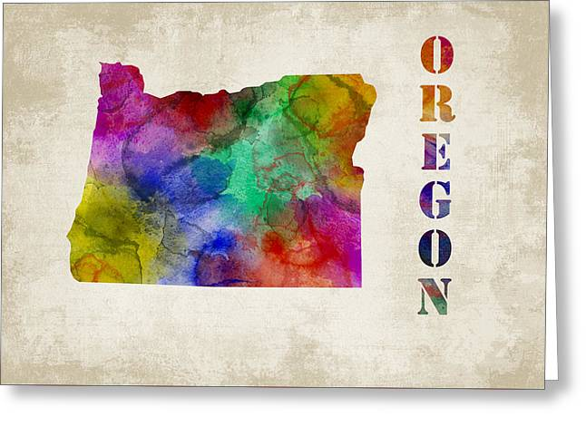 Brown Greeting Cards - Oregon Greeting Card by Mihaela Pater