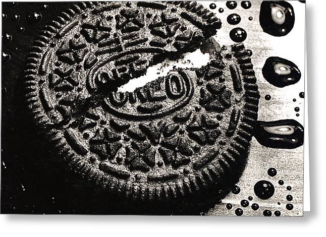 Cookie Greeting Cards - Oreo Cookie Greeting Card by Nancy Mueller