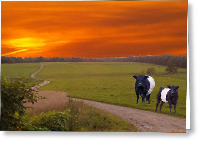 Oreo Digital Greeting Cards - Oreo Cow Greeting Greeting Card by Mike Breau
