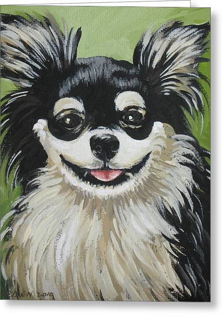 Oreo Drawings Greeting Cards - Oreo Greeting Card by Outre Art  Natalie Eisen