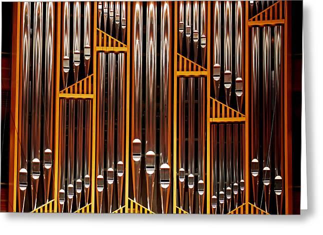 Organ Opus 76 - Philadelphia Greeting Card by Rona Black
