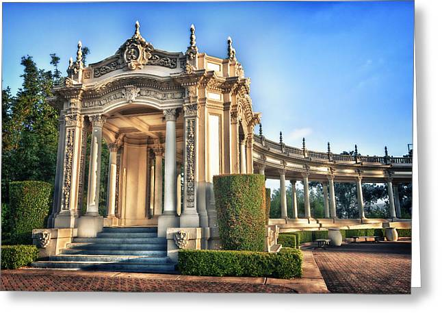 Arch Greeting Cards - Organ Pavillion at Balboa Park Greeting Card by Larry Marshall