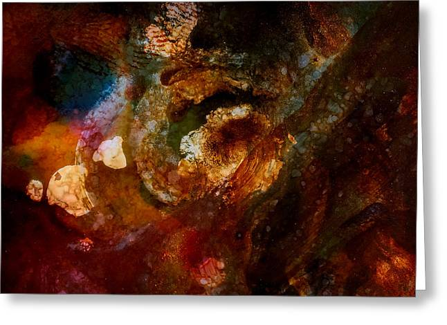 Organic Abstract 13 Greeting Card by Lilia D