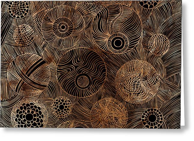 Organic Forms Greeting Card by Frank Tschakert