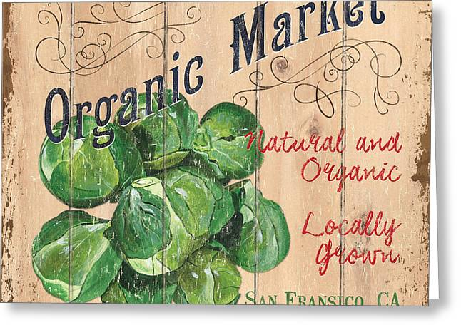 Organic Market Greeting Card by Debbie DeWitt