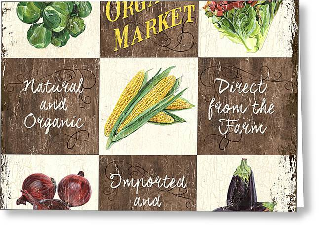Organic Market Patch Greeting Card by Debbie DeWitt