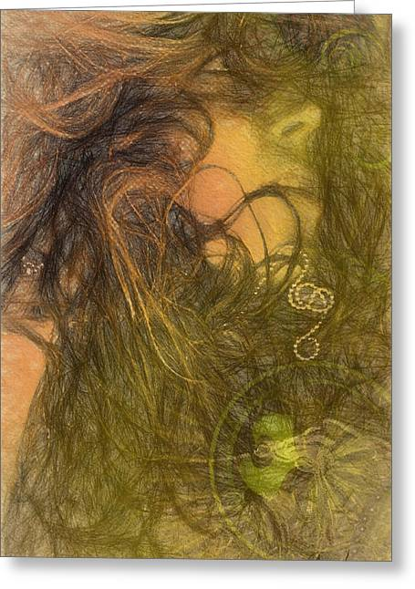 Fineartamerica Mixed Media Greeting Cards - Organic Motion Greeting Card by Andrea Ribeiro